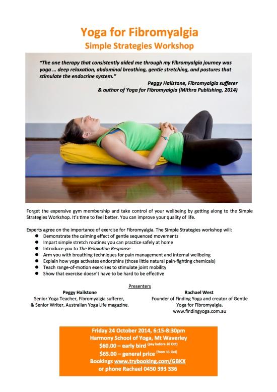Yoga for Fibromyalgia Workshop Flyer Melbourne 2014